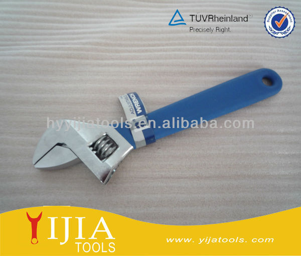 single color dipped handle Adjustable Wrench