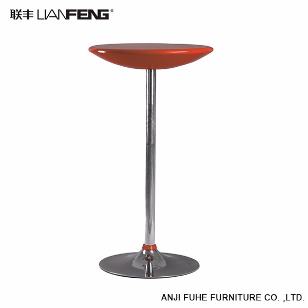 High quality red round modern bar table