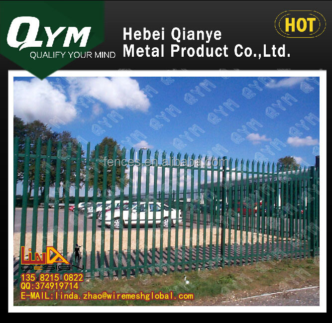 2015 Top quality Factory sale powder coated decorative metal palisade fence panels