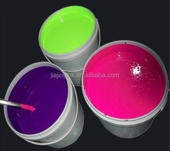 flouresent ink for coating paper