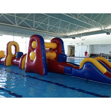 Swimming Pool inflatable Obstacle Course floating on water, aqua run water sport games for kids