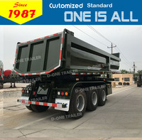 heavy duty 10 wheel dump truck semi trailer,60 tons 3 axles tipper semi trailer,3 axles dump truck trailer
