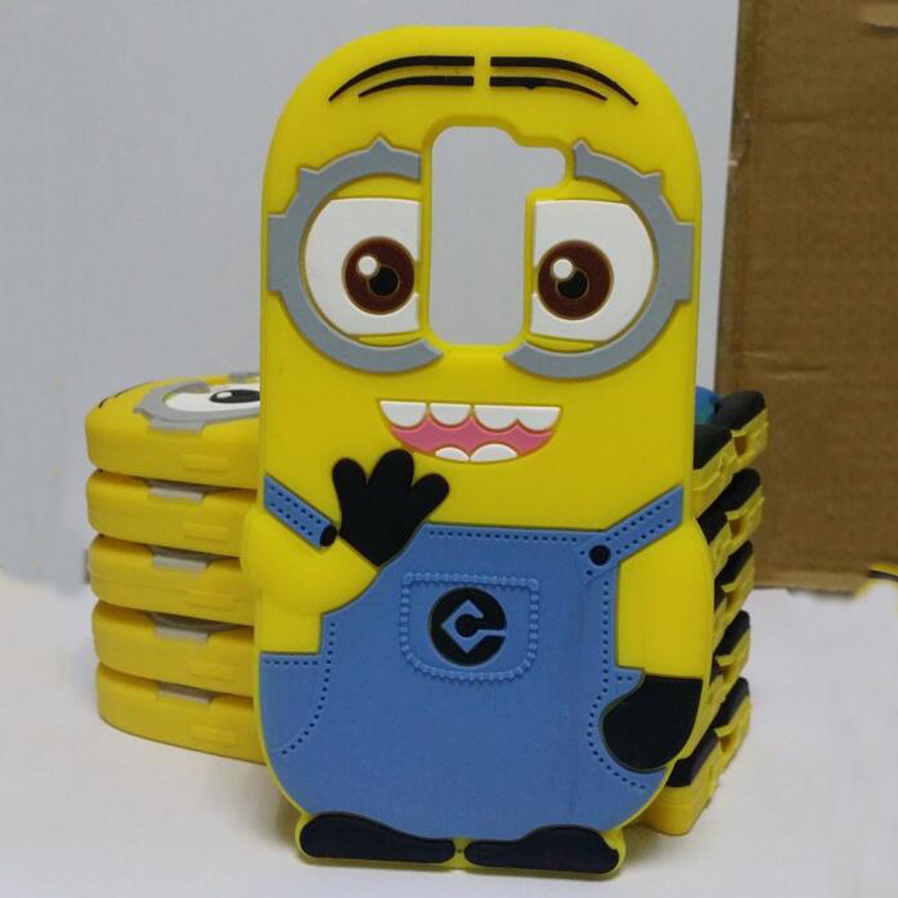 Minion 3d Back silicone case for lg optimus l5 g2 g3 g4 mini L70 L90 cover