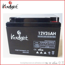Gel battery 12V 26AH UPS solar batteries China manufacture