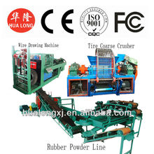 CE ISO rubber powder production line waste tyre recycling machine