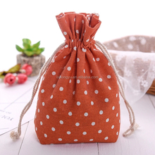 flat bottom dot full printing linen bag