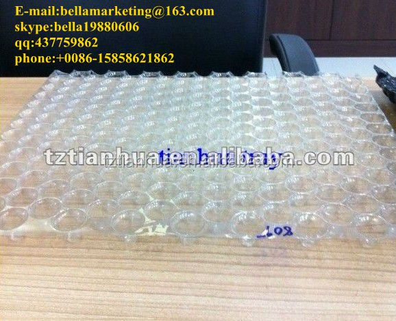 434 Cell PVC Virgin Material Rice Grow Tray/Paddy Seedling Tray/Parachute Tray