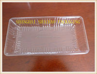 Hight Quality PET rectangular plastic food tray