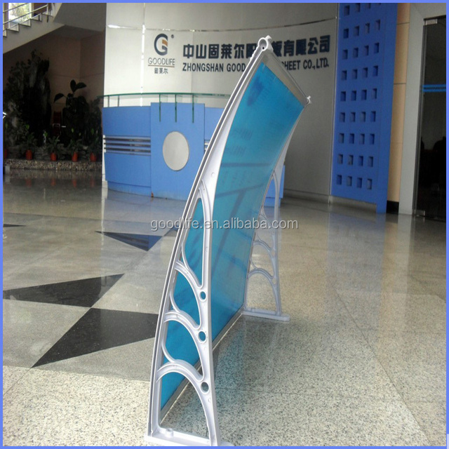 polycarbonate fold arms cassette awning for doors and windows