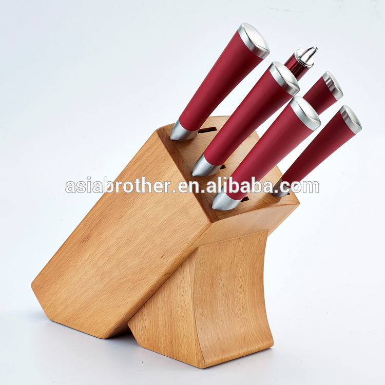 High Quality Factory Price 5pcs complete kitchen knife set in suitcase