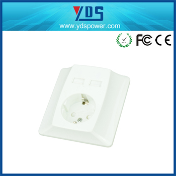 alibaba co electrical material china usb wall socket with Germany plug