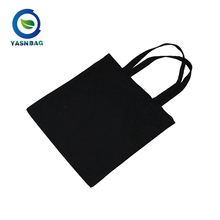 Wholesale black organic tote recycled cotton bag