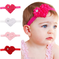 Soft Fashion Lovely Colorful Baby Girls Toddler Infant Newborn Crytral Heart Headband Headwear Hair Band Accessories