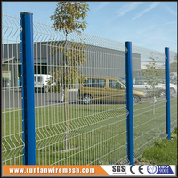 manufacture yard guard welded wire fence,metal grid 3d fence for walls