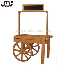Attractive antique handmade stall wooden cart display
