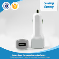 Mobile phone accessories 2 port USB car charger for tablet and power bank