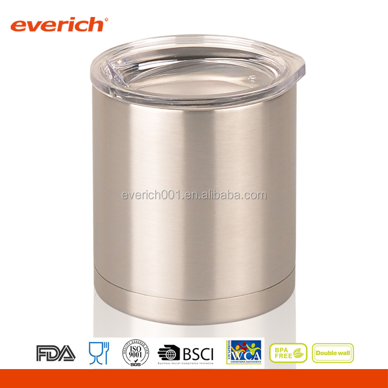 10oz customized logo/color DW stainless steel travel mug with flip lid