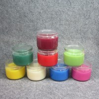 Aromatherapy type glass jar scented candle