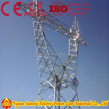 400KV Lattice Power Transmission Tower