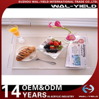 Clear plexiglass material acrylic serving tray