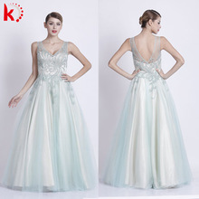 8118 new arrive fashion mint tulle ball dress prom dress 2016