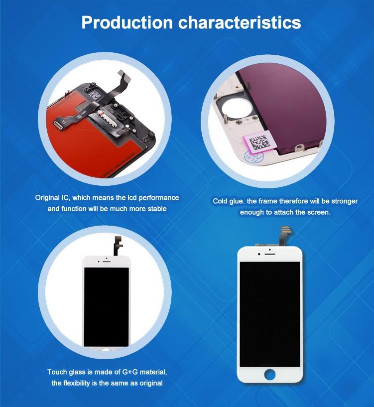 Tianma lcd AAA para o iphone 6, preço de fábrica para o iphone 6 de exibição, para iphone 6 tela de substituição