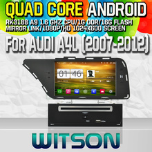 Witson S160 Android 4.4 Car DVD GPS For AUDI A4L (2007-2012) with Quad Core Rockchip 3188 1080P 16g ROM WiFi