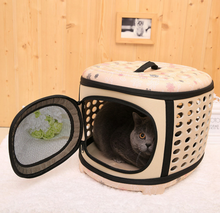 Factory sale OEM ODM EVA soft-sided foldable easy carry cat dog travel carrier bag house room for pets handle carriers