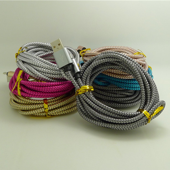 Nylon Braided usb Cable wholesell china data cable 3m