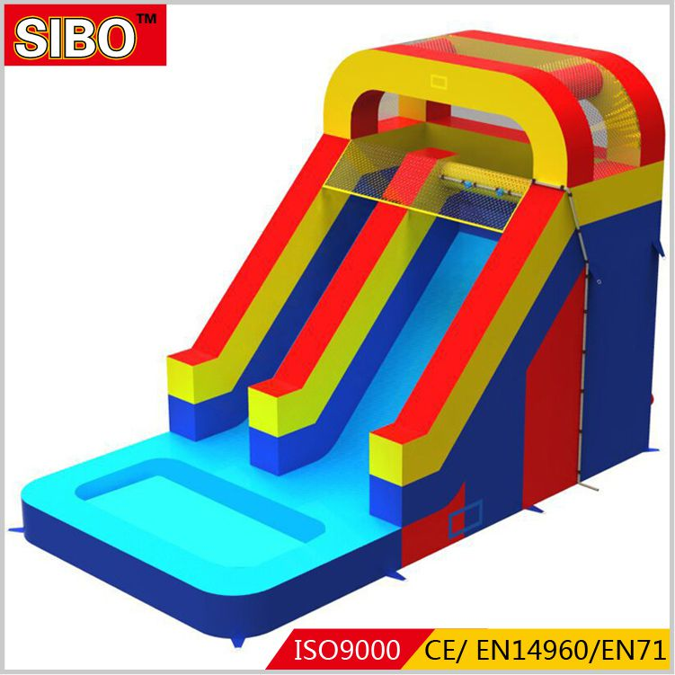 cheap playground children inflatable water slides for sale with factory price