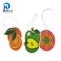 Wholesale Cheap Custom Hanging Paper Type Car Air Freshener Printed With Customized LOGO Take Strong Perfume