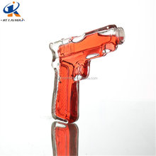 new style wholesale 190ml clear wine bottle with cheap price gun shaped glass bottles