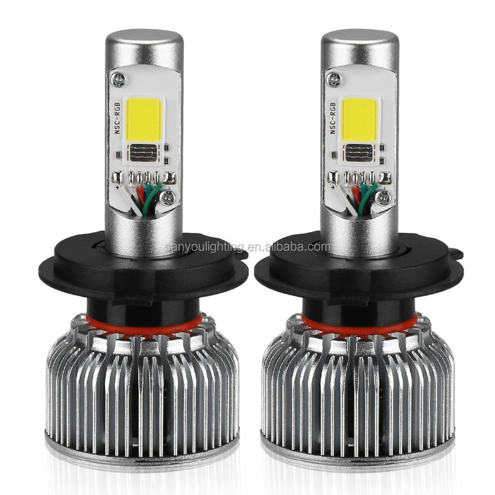 2017 newest rgb led headlight for car led headlamp car h4 led headlight bulbs