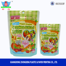 Manufacturer good barrier veggie chips plastic pouch, plastic pouch with zipper,mix fruit food pouches