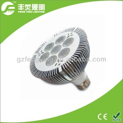 led lighting par30 7*2w E27 spot light 1400lumen CPI 75