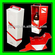 foldable printing paper cardboard innovative wine packaging box