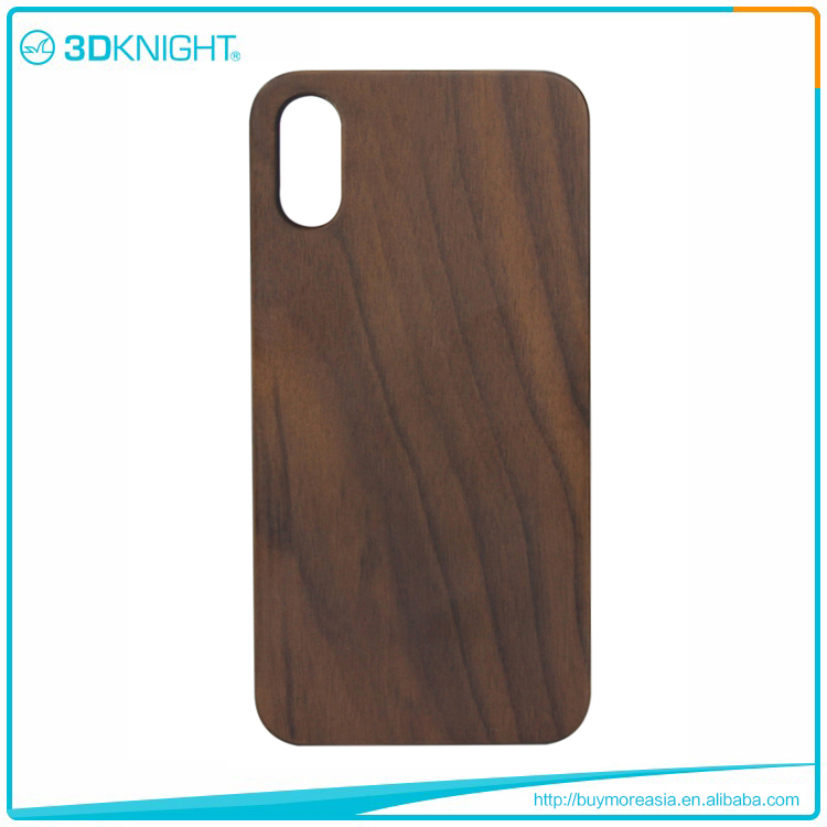 High quality wood phone case for iphone X, classic Style wood case for iphone X
