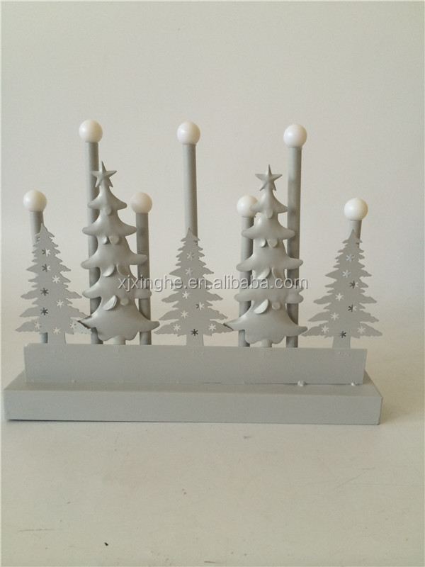 Metal Christmas tree home decoration with LED light up