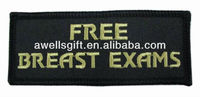 MOTORCYCLE BIKER PATCH FREE BREAST EXAMS