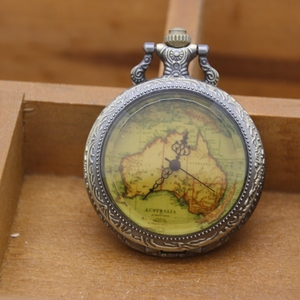 Best price (gorilla glass) 창 antique bronze 호주 맵 pocket watch