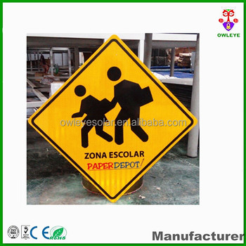 Super bright road safety sign board