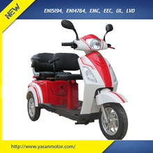 Factory price 2 seat mobility cheap electric scooter tricycle for disabled