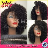 shy hair products unprocessed wholesale tight curly human hair full lace wig