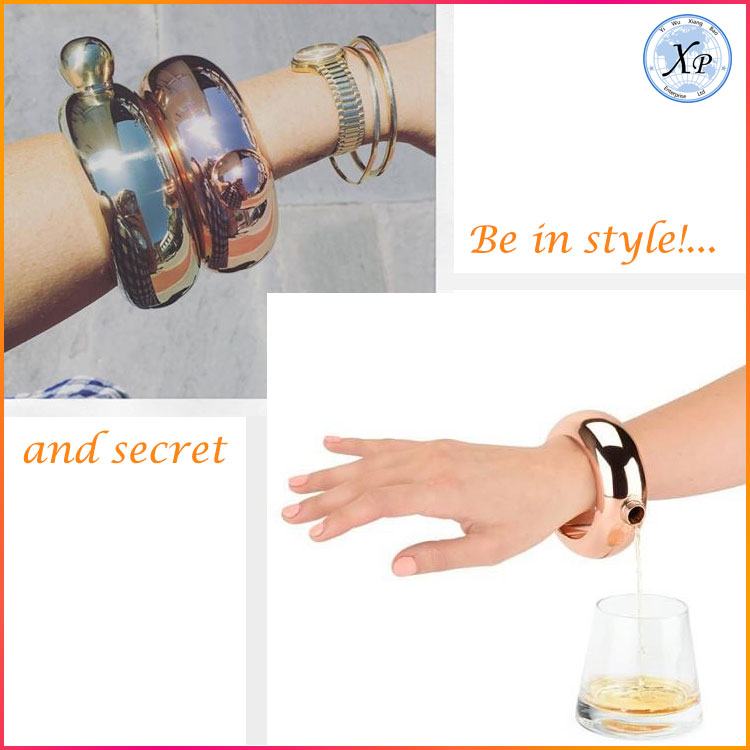Fashionable and Multifunction Hip Bangle Bracelet Flask