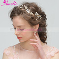 Handmade Pearl Charming Blooms Wedding Tiara Hair Vine with Earring Set Bridal Jewellery