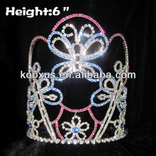 Crystal Animal Butterfly Crowns for Kids Pageant Crowns tiara