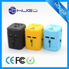 DC output power 5V 2500mA world travel plug adapter protable usb travel adapter