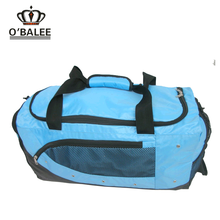 SA8000 quanzhou manufacters men waterproof blue nylon ripstop travel bag with shoes pocket