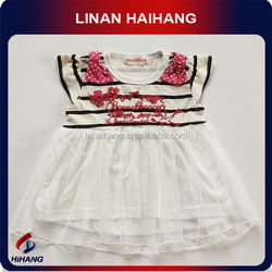 2014 hot sale cotton chiffon baby clothing thailand