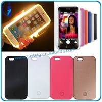 Amazing Illuminated selfie light cell phone case led light up mobile phone case for iphone 5 5S 6 6S Plus case